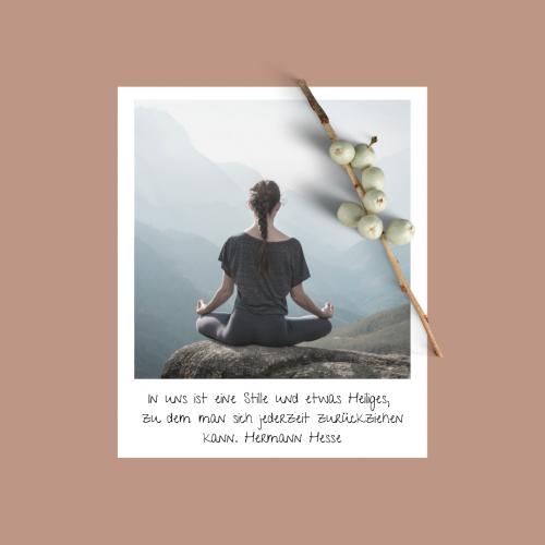 Meditation Spruch